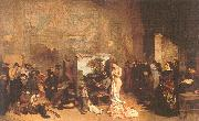 Courbet, Gustave The Painter s Studio oil painting artist