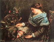 Courbet, Gustave The Sleeping Spinner oil painting picture wholesale