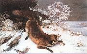 Courbet, Gustave The Fox in the Snow oil painting picture wholesale