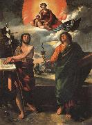 DOSSI, Dosso Madonna in Glory with SS.John the Baptist and john the Evangelist oil painting picture wholesale
