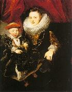 Dyck, Anthony van Young Woman with a Child oil painting picture wholesale