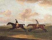 Francis Sartorius The Race For The King's Plate at Newmarket,6th May 1797,Won By 'Tottenridge' oil painting artist