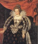 Frans Pourbus the younger Marie de Medicis,Queen of France oil painting artist