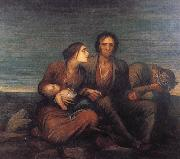 George Frederick watts,O.M.,R.A. The Irish Famine oil painting artist