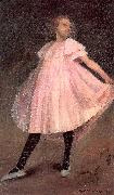 Glackens, William James Dancer in a Pink Dress oil painting artist