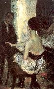 Glackens, William James Seated Actress with Mirror oil painting artist