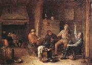 Hendrick Martensz Sorgh A tavern interior with peasants drinking and making music oil painting artist