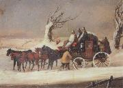 Henry Alken Jnr The Bath To London Royalmail Coach in the snow oil painting picture wholesale