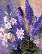 Hills, Laura Coombs Larkspur and Lilies oil painting picture wholesale