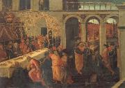 JACOPO del SELLAIO The Banquet of Ahasuerus oil painting picture wholesale