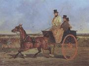John Frederick Herring A Horse and Trap on the York Road oil painting picture wholesale