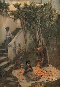 John William Waterhouse Study of a Garden on Capri oil painting artist