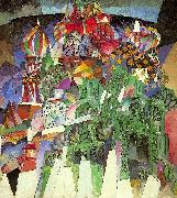 Lentulov, Aristarkh St. Basil's Cathedral oil painting artist