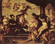 Luca Giordano Rubens Painting an Allegory of Peace oil painting artist