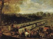 MAZO, Juan Bautista Martinez del The Hunting Party at Aranjuez oil painting artist