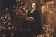 Mario Dei Fiori Self-Portrait with a Servant and Flowers oil painting picture wholesale