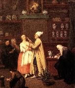 Pietro Longhi The Spice-vendor s shop oil painting picture wholesale