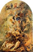 RUBENS, Pieter Pauwel Small Last Judgement oil painting artist