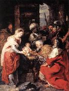 RUBENS, Pieter Pauwel Adoration of the Magi oil painting artist