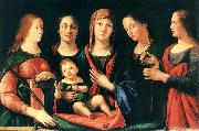 VIVARINI, family of painters Mary and Child with Sts Mary Magdalene and Catherine oil painting artist