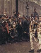 William Logsdail The Ninth of November 1888-ir James Whitehead s Procession oil painting artist