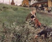 Anders Zorn Mora marknad oil painting picture wholesale