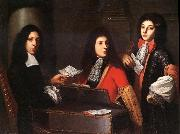 Anton Domenico Gabbiani Portrait of Musicians at the Medici Court oil painting artist