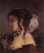 Courbet, Gustave La Reflexion oil painting artist