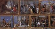 David Teniers Details of Archduke Leopold Wihelm's Galleries at Brussels oil painting picture wholesale