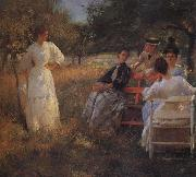 Edmund Charles Tarbell In the Orchard oil painting artist