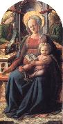 Fra Filippo Lippi Madonna and Child Enthroned with Two Angels oil painting artist