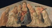 Fra Filippo Lippi Madonna of Humility with Angels and Carmelite Saints oil painting artist