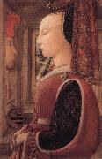 Fra Filippo Lippi Portrait of a Woman with a Man at a Casement oil painting artist