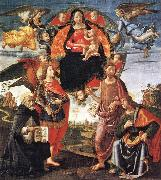 GHIRLANDAIO, Domenico Madonna in Glory with Saints oil painting artist