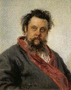 Ilya Repin Portrait of Modest Mussorgsky oil painting artist