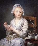 Jean-Baptiste Greuze The Wool winder oil painting artist