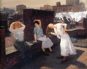 John sloan Sunday,Women Drying Their Hair oil painting artist