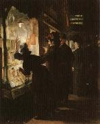 John sloan Picuture-Shop Window oil painting artist