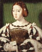 Joos van cleve Portrait of Eleonora, Queen of France oil painting artist