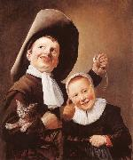 Judith leyster A Boy and a Girl with a Cat and an Eel oil painting artist