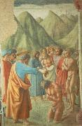 MASACCIO The Baptism of the Neophytes oil painting artist