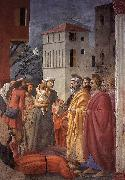 MASACCIO The Distribution of Alms and the Death of Ananias oil painting artist