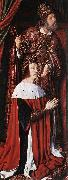 Master of Moulins Pierre de Bourbon and his Patron Saint oil painting artist