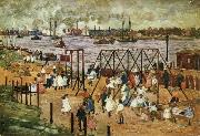 Maurice Prendergast The East River oil painting artist