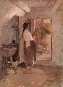 Nicolae Grigorescu Old Woman Sewing oil painting picture wholesale