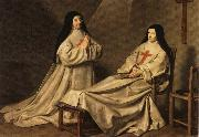 Philippe de Champaigne Mother Catherine Agnes and Sister Catherine Sainte-Suzanne oil painting picture wholesale