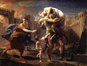 Pompeo Batoni Aeneas Fleeing from Troy oil painting picture wholesale