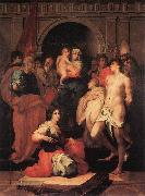 Rosso Fiorentino Madonna Enthroned and Ten Saints oil painting artist