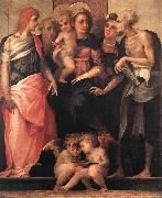 Rosso Fiorentino Madonna Enthroned with Four Saints oil painting artist