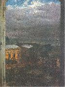 Adolph von Menzel The Anhalter Railway Station by Moonlight oil painting artist